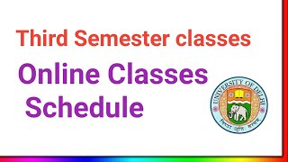 SOL Third Semester online classes Time table 2020