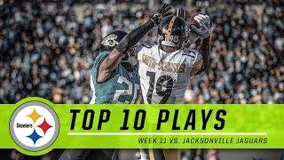 Steelers Best Plays from Comeback Win vs. Jaguars | Top 10