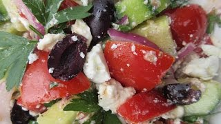 Traditional GREEK SALAD - How to make GREEK SALAD Recipe
