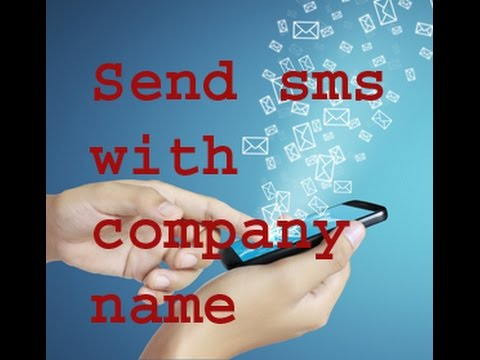How to send SMS with company name