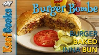 Hamburger Baked in a Homemade Burger Bun Recipe #keefcooks