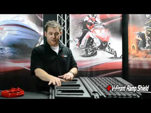 Snowmobile Trailer Salt Shield - V-Front Ramp Shield by Caliber