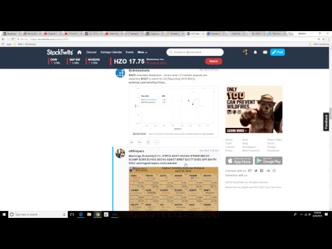 """4/24/18 """"LIVE"""" OPEN SCREEN TRADING - Futures rise as Caterpillar leads batch of strong earnings!"""