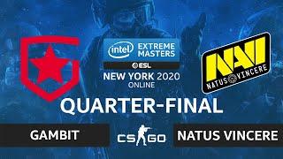 CS:GO - Natus Vincere vs Gambit [Train] Map 1 - IEM New York 2020 - Quarter-final - CIS