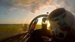 Август 2017 Л-29. Закат. Облака.