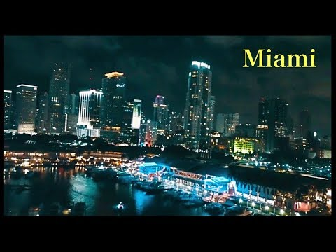 Downtown Miami: Most-See Attractions at Night by Drone