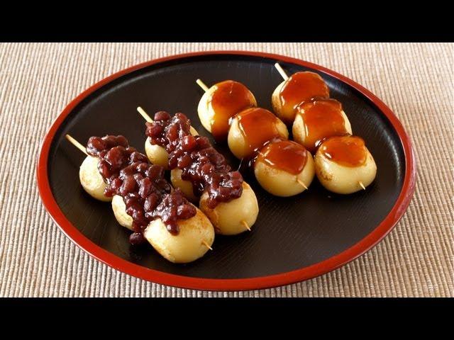 How to Make Dango (Japanese Sweet Dumplings: Mitarashi and Anko Red Bean Paste Recipe) | OCHIKERON