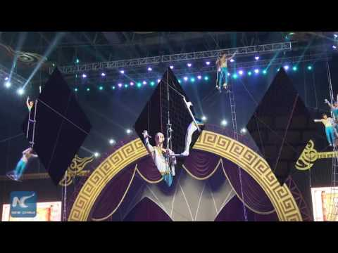 Flying Trapeze: Chinese acrobats display breathtaking dexterity