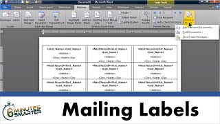Create Mailing Labels in Word using Mail Merge from an Excel Data Set thumbnail
