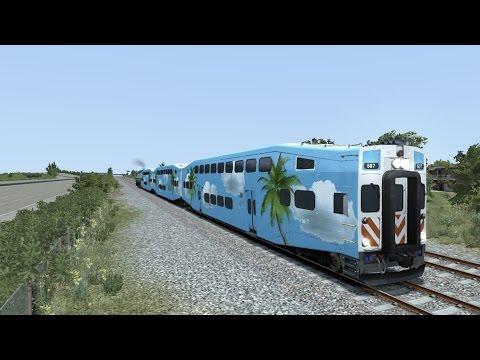 CalTrain, West Coast Express, Amtrak Cascades, and TriRail Compilation on Railworks