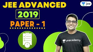 JEE Advanced 2019 Paper 1   Unacademy JEE   IIT JEE Chemistry   Ashwani Tyagi