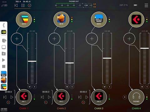 AUM, Audiobus, AB Remote, LINK, DrumJam, Fugue, Gadget, Cubasis, Record
