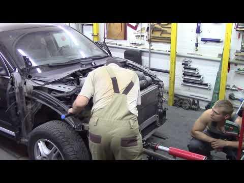 Порше Кайён, не большой ремонт. Body Repair After An Accident.