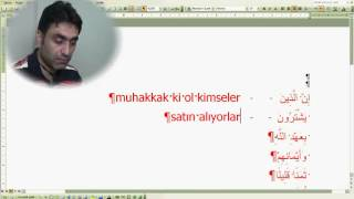 Al-i İmran suresi 77 (Doç. Dr. Halis AYDEMİR)