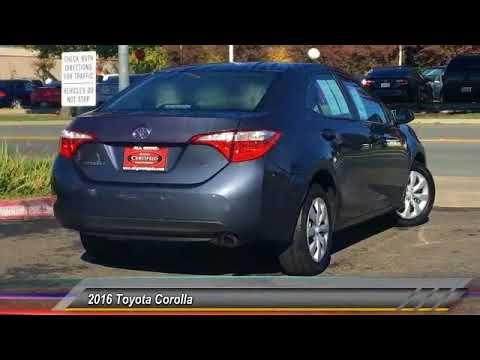 2016 Toyota Corolla Elk Grove Toyota E22636