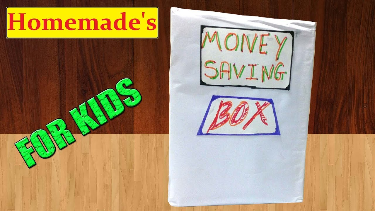 How to make money saving box at home diy youtube how to make money saving box at home diy homemade sciox Image collections