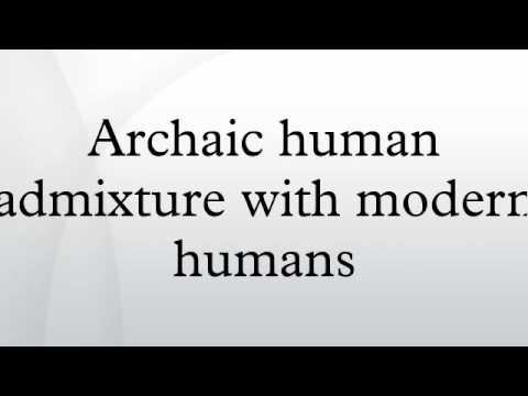 Archaic human admixture with modern humans