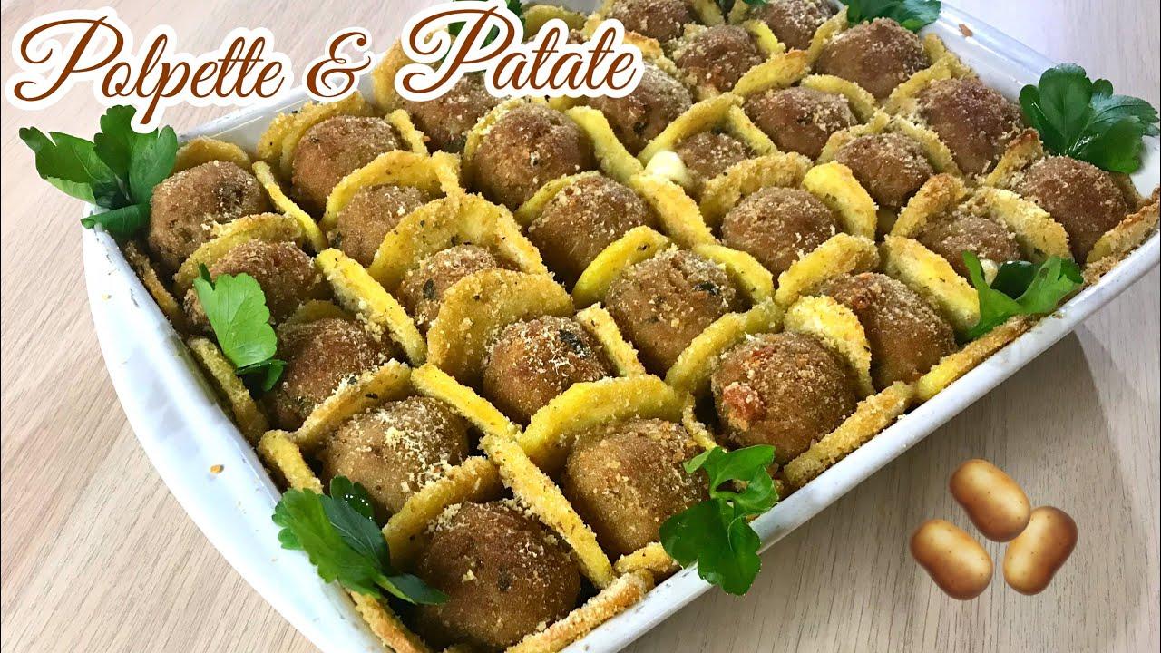 POLPETTE E PATATE IN TEGLIA ricetta semplice e sfiziosa MEATBALLS AND POTATOES - Tutti a tavola