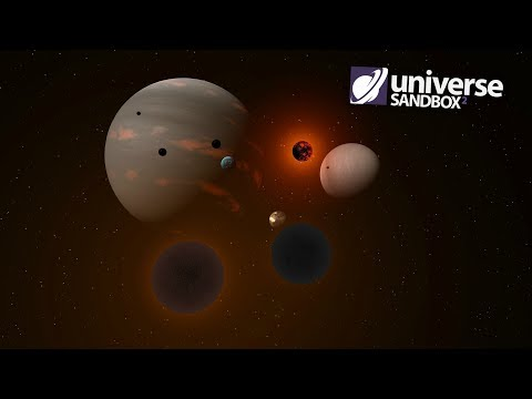 Making A Solar System Out Of Black Objects, Universe Sandbox ²
