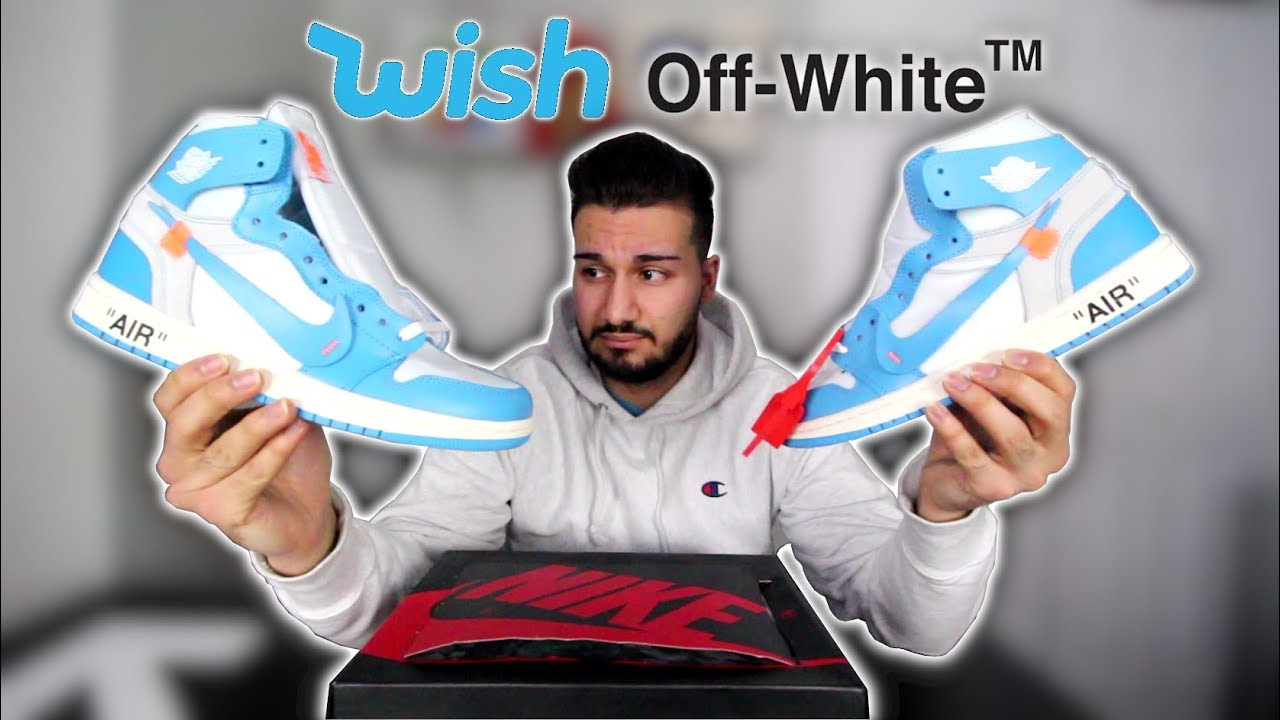 Pepino director palanca  I Bought Off-White Air Jordan 1 UNCs from Wish!!! | Unboxing + Review -  YouTube
