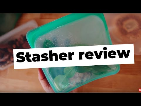 STASHER BAG REVIEW • REUSABLE SILICONE BAG FOR ZERO WASTE