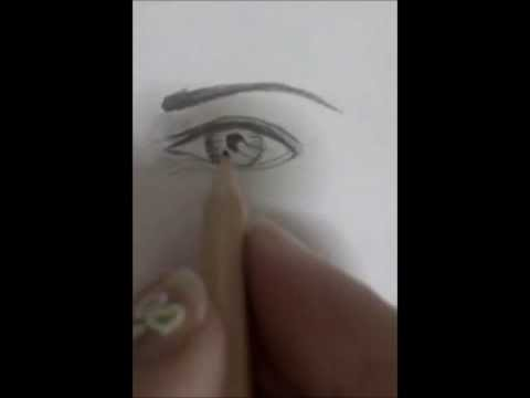تعليم الرسم للمبتدئين للرسم العيون منال الكحلوت .wmv