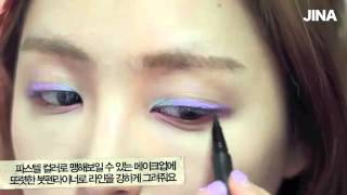 JINA   Spring pastel makeup with clio   봄처럼 화사한 파스텔 메이크업   YouTube Thumbnail