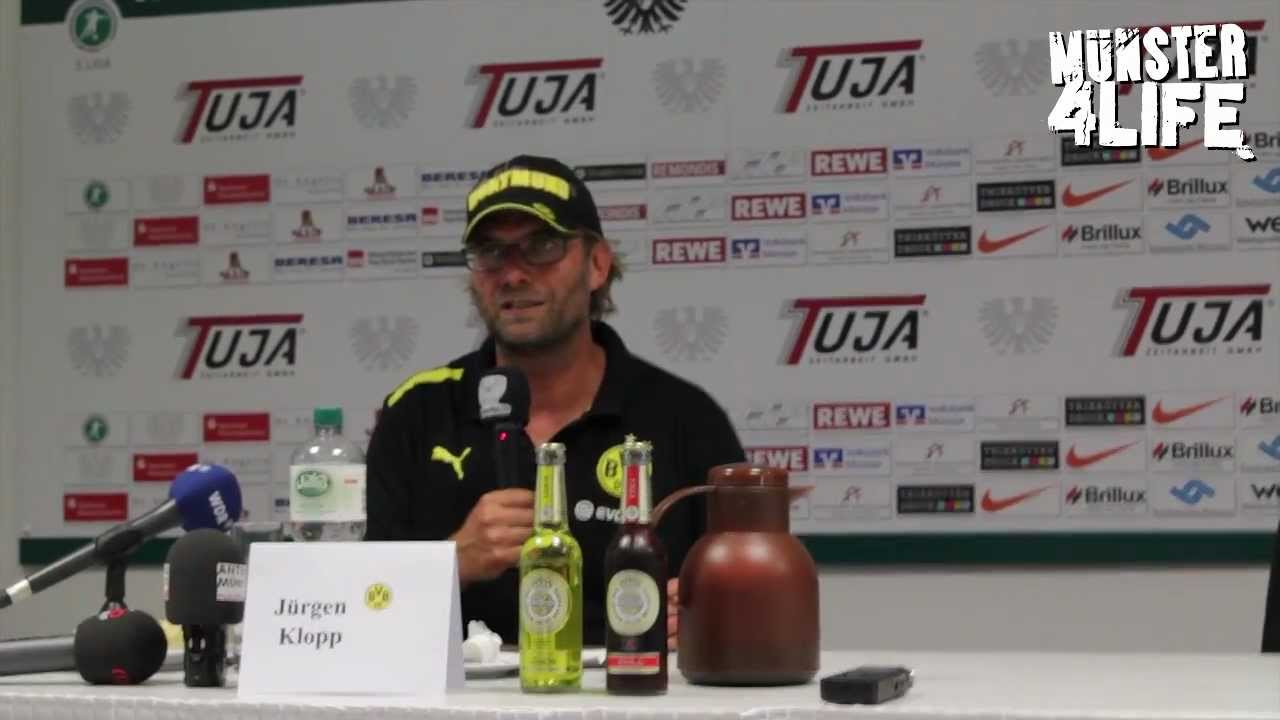Jürgen Klopp & Pavel Dotchev - Pressekonferenz - Preußen Münster vs. Borussia Dortmund