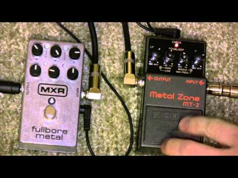 MXR Fullbore Metal Vs Boss Metal Zone MT-2 Metal Pedal Shootout