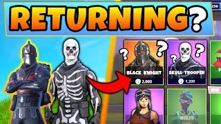Fortnite Skins: WILL THESE 4 SKIN SETS RETURN? Réponses/Preuve ft. Skull Trooper! (Bataille Royale)