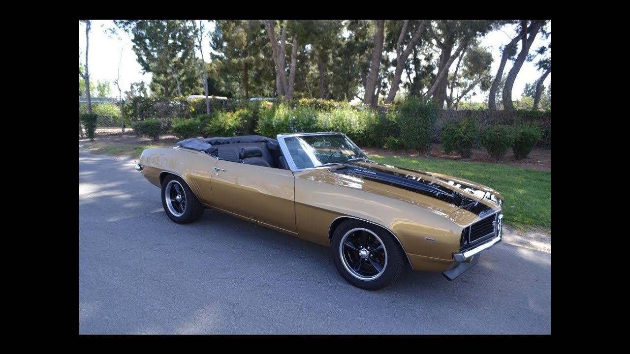 Pics photos chevrolet camaro resto mod for sale - Sold 1969 Chevrolet Camaro Rs Ss Convertible Resto Mod Olympic Gold For Sale By Corvette Mike Youtube