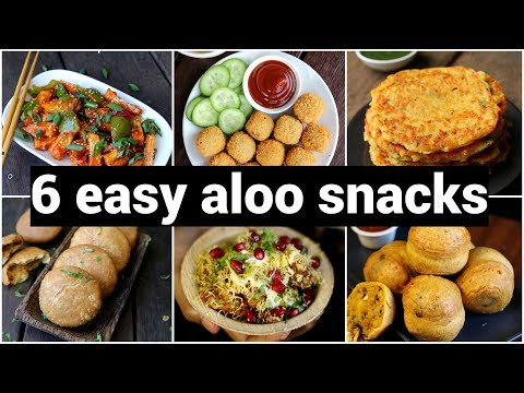 6 quick evening aloo snack recipes | 6 कुरकुरे आलू स्नैक्स | easy and healthy potato snacks