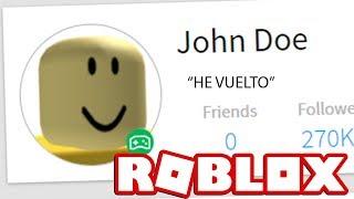 JOHN DOE VUELVE A ROBLOX 😱