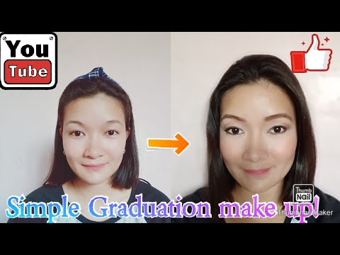 simple graduation make up tutorial  youtube
