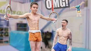 Strength Battle vs 12 Year Old Superhuman Gymnast ** IMPOSSIBLE**
