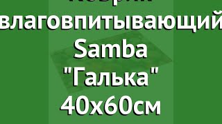 Коврик влаговпитывающий Samba Галька 40х60см (Vortex) обзор 22415