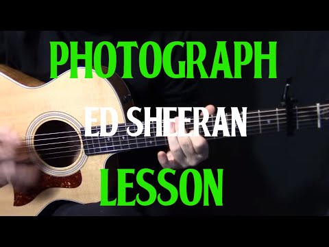 "how to play ""Photograph"" on guitar by Ed Sheeran easy beginner acoustic guitar lesson tutorial"