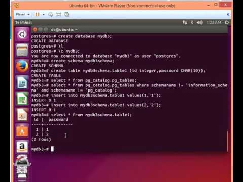 Postgresql tutorial 001:create database,schema,Insert,delete,drop,truncate