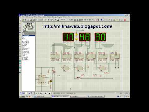 Relogio digital com osilador 555 - YouTube