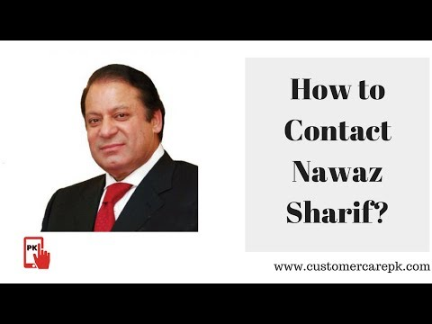 Nawaz Sharif Contact Address, Phone Number, Email ID, Website
