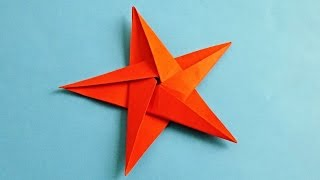 как сделать звезду из бумаги оригами/ How to make an origami star from paper