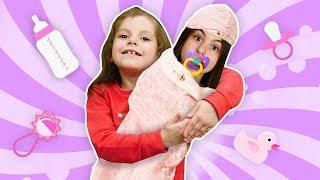 Игры для девочек -  Живая кукла Беби Бон! - Как мама в видео для детей.