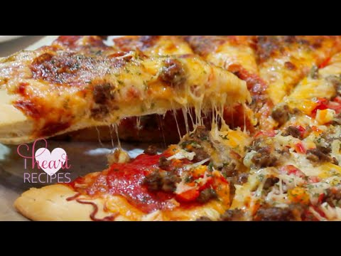Homemade Pizza made from scratch : dough & sauce