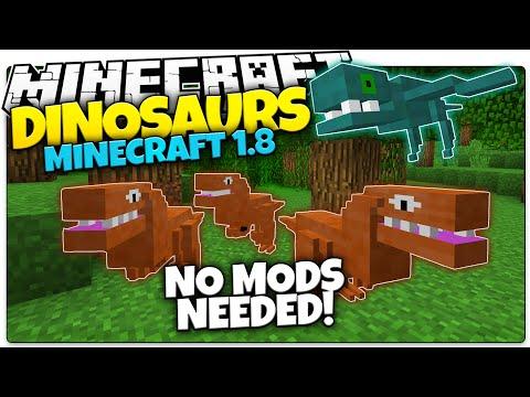 Minecraft | DINOSAURS IN MINECRAFT | NO MODS | Custom Command World (Minecraft Redstone)