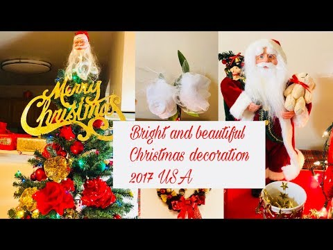 Bright and beautiful Christmas decoration  2017 Usa/Dollar tree and Michaels inspired  decoration