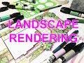 LANDSCAPE DESIGN RENDERING - TROPICAL