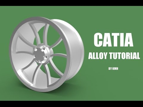 CATIA free basic  online training  how to design a rim   tutorial for beginners
