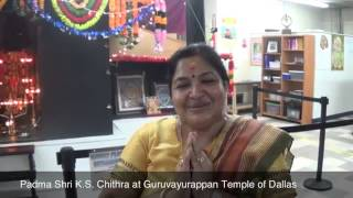 Padma Shri K.S.Chithra At Guruvayurappan Temple Of Dallas