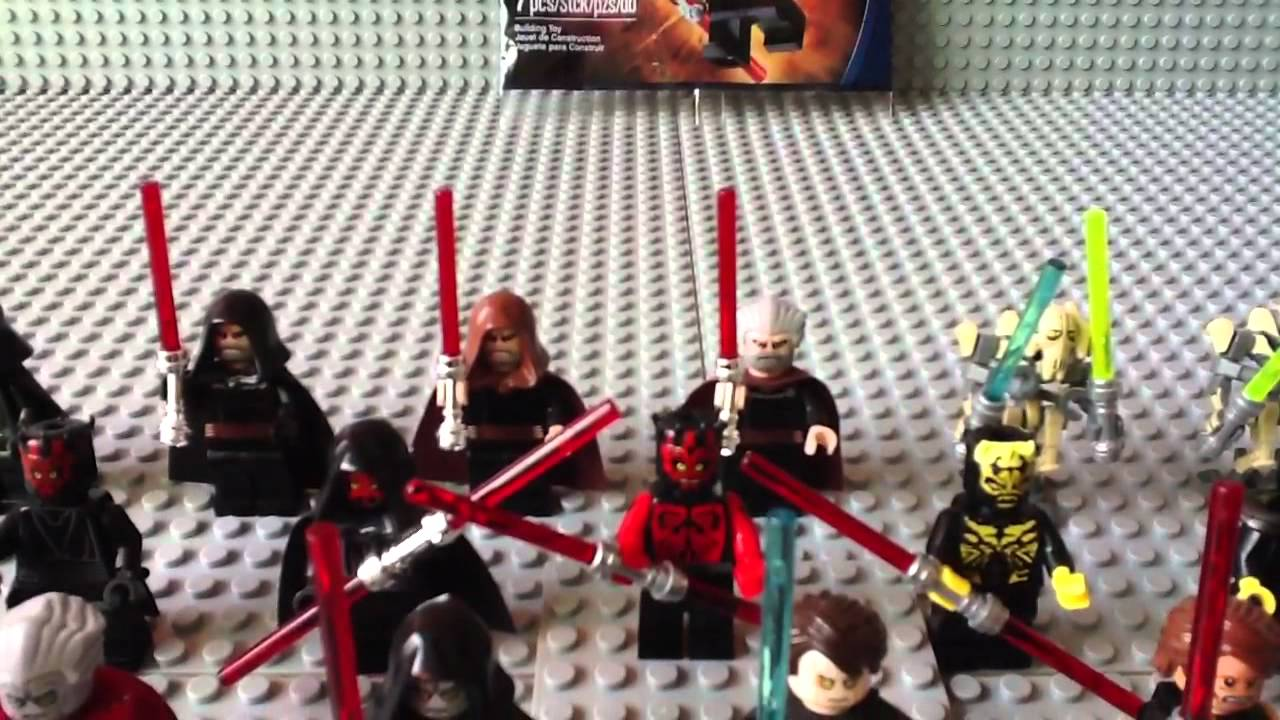 my massive lego star wars sith minifigure collection 2012. Black Bedroom Furniture Sets. Home Design Ideas