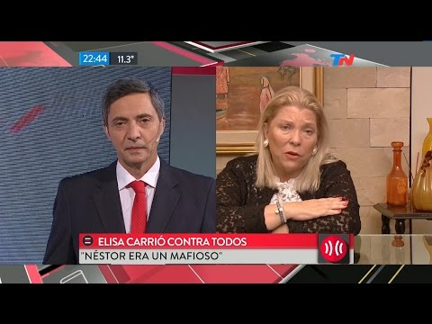 "E.Carrió en ""A dos voces"", de M.Bonelli y E.Alfano - 03/08/16"
